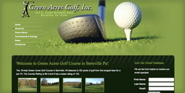 Green Acres Golf Course Website Design