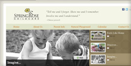 Springrose Childcare Website Design and Website Development