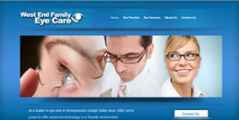 West End Family Eye Care Website Design and Website Development