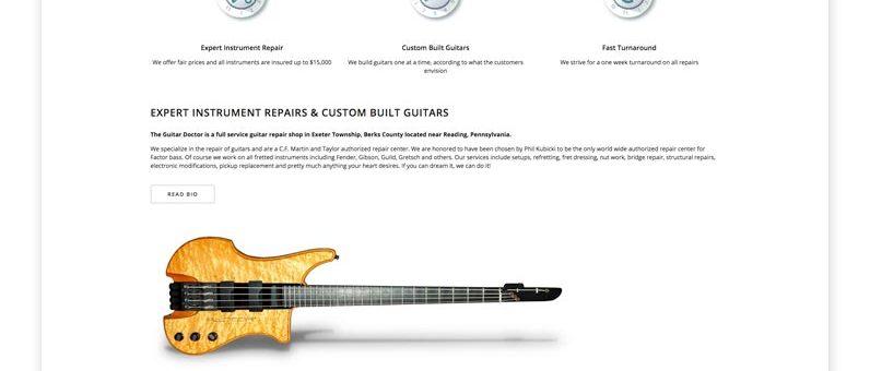 The Guitar Doctor Website Design