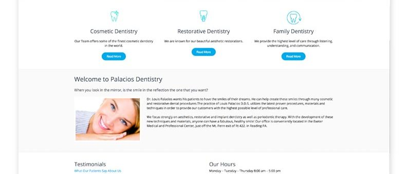 Palacios Dentistry Website Design